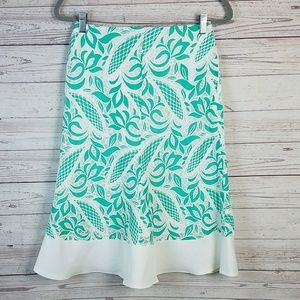 Shabby Apple Green & White Floral Lace Skirt